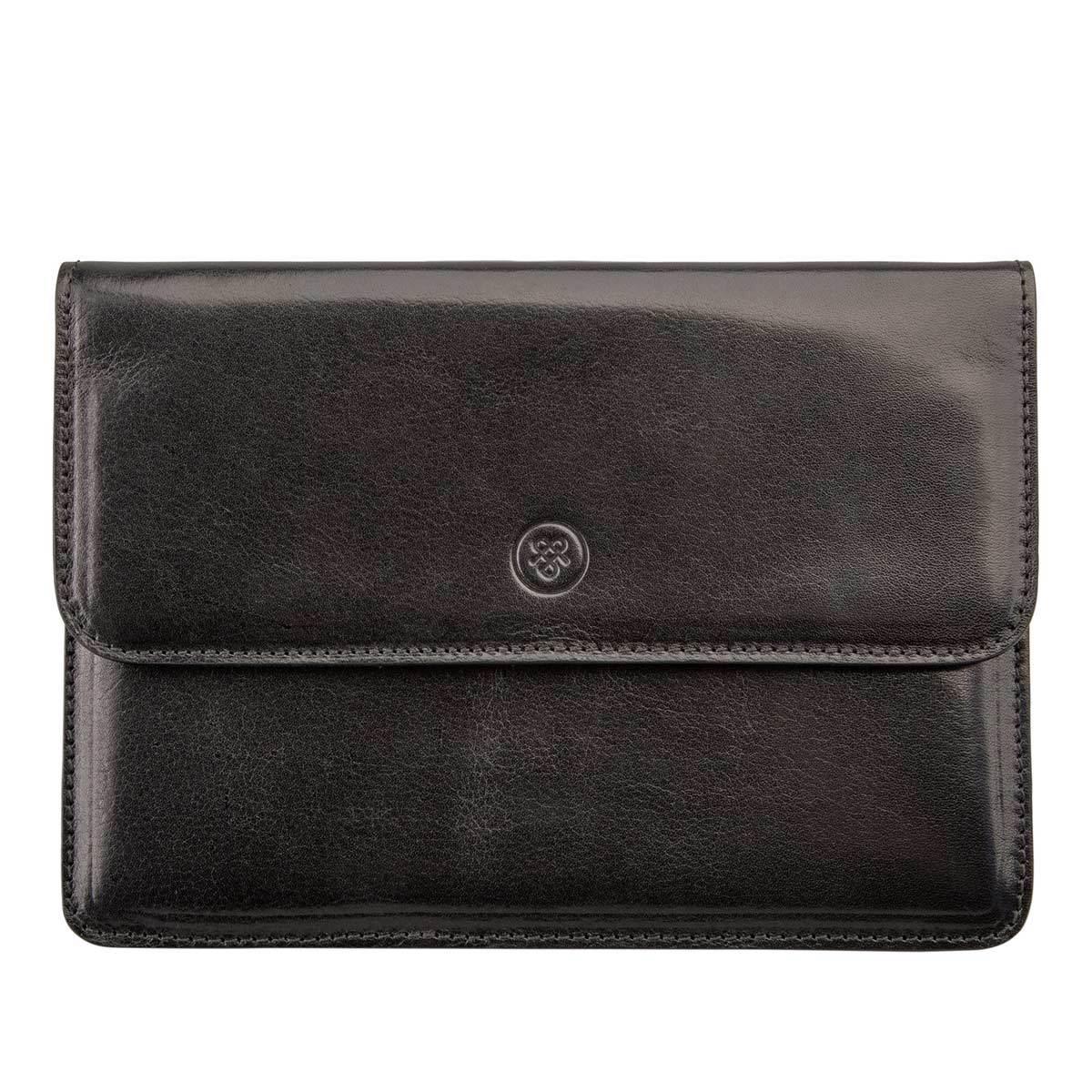 MAXWELL SCOTT BAGS High Quality Black Italian Leather Travel Wallet