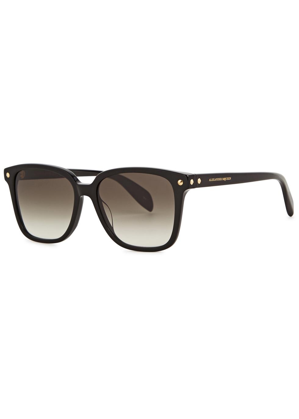 Black wayfarer-style sunglasses - Alexander McQueen