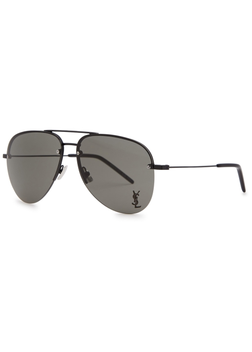 cf96831870 Saint Laurent Classic 11 aviator-style sunglasses - Harvey Nichols