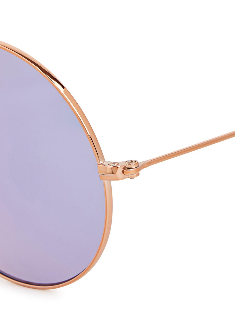 Purple round-frame sunglasses - Ray-Ban