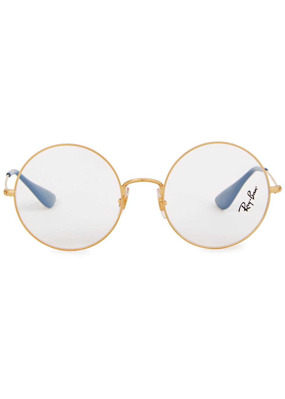 Gold round-frame optical glasses - Ray-Ban