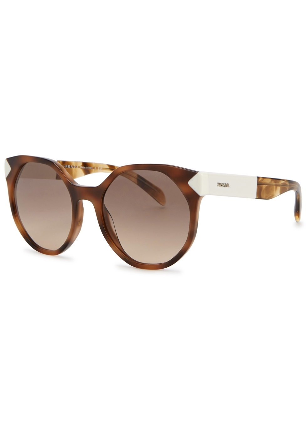 Tortoiseshell cat-eye sunglasses - Prada