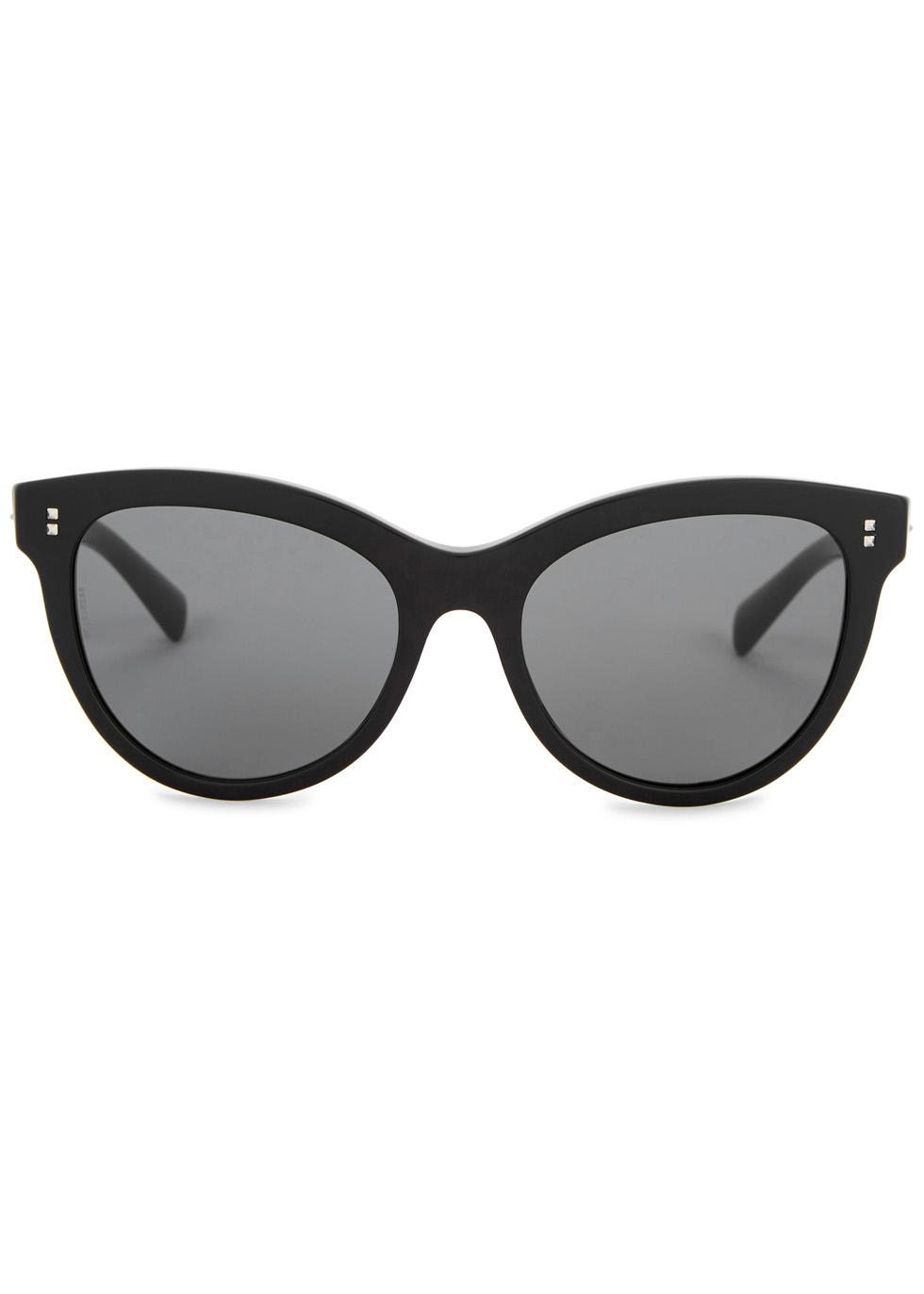 Black cat-eye sunglasses - Valentino Garavani