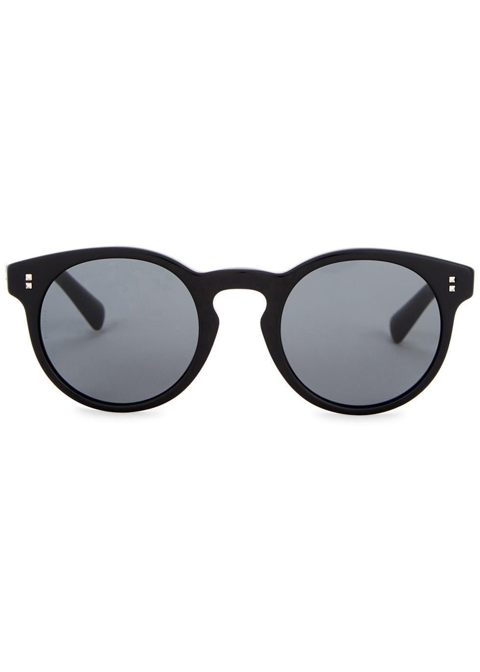 Black round-frame sunglasses - Valentino Garavani