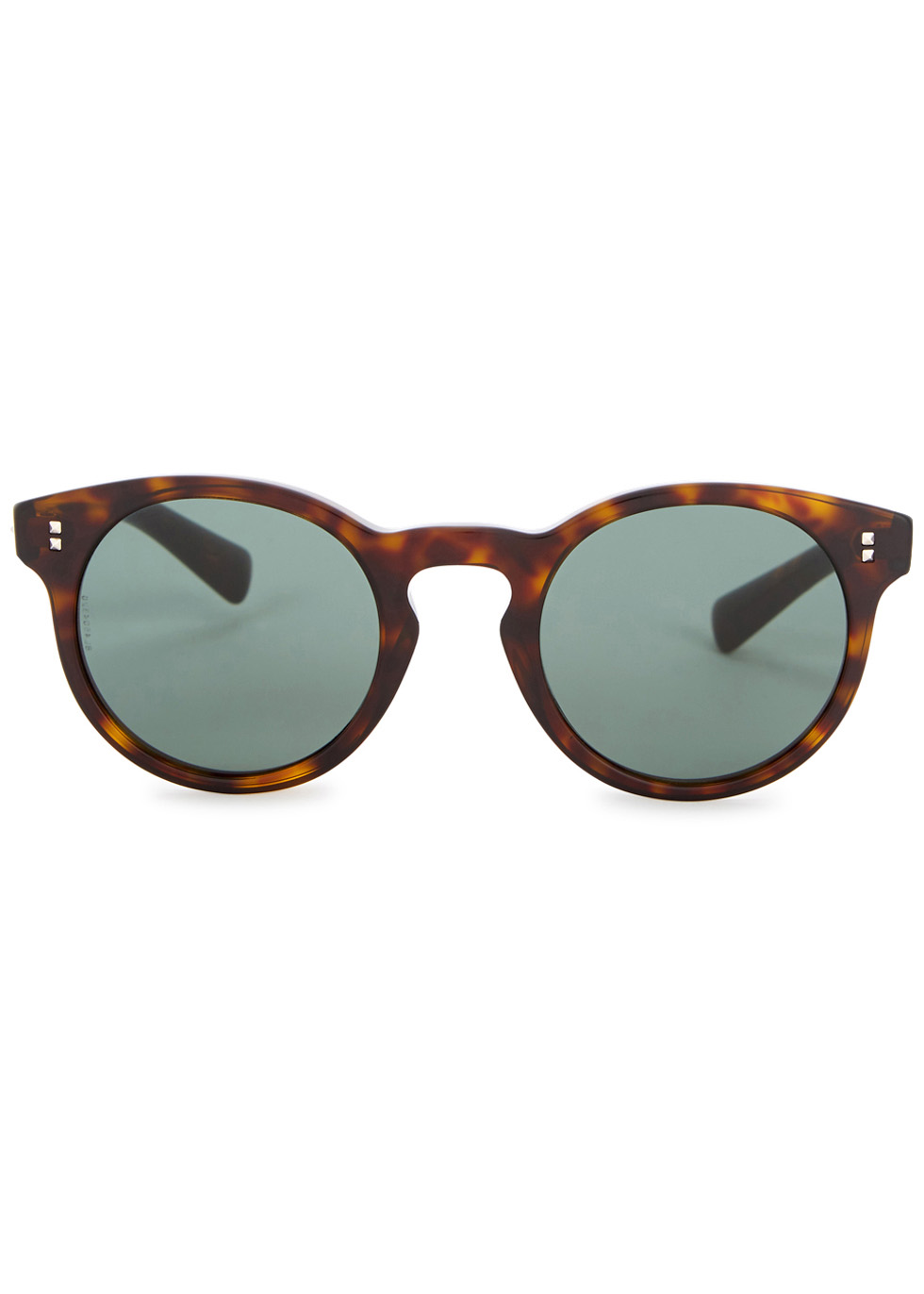 Tortoiseshell round-frame sunglasses - Valentino Garavani