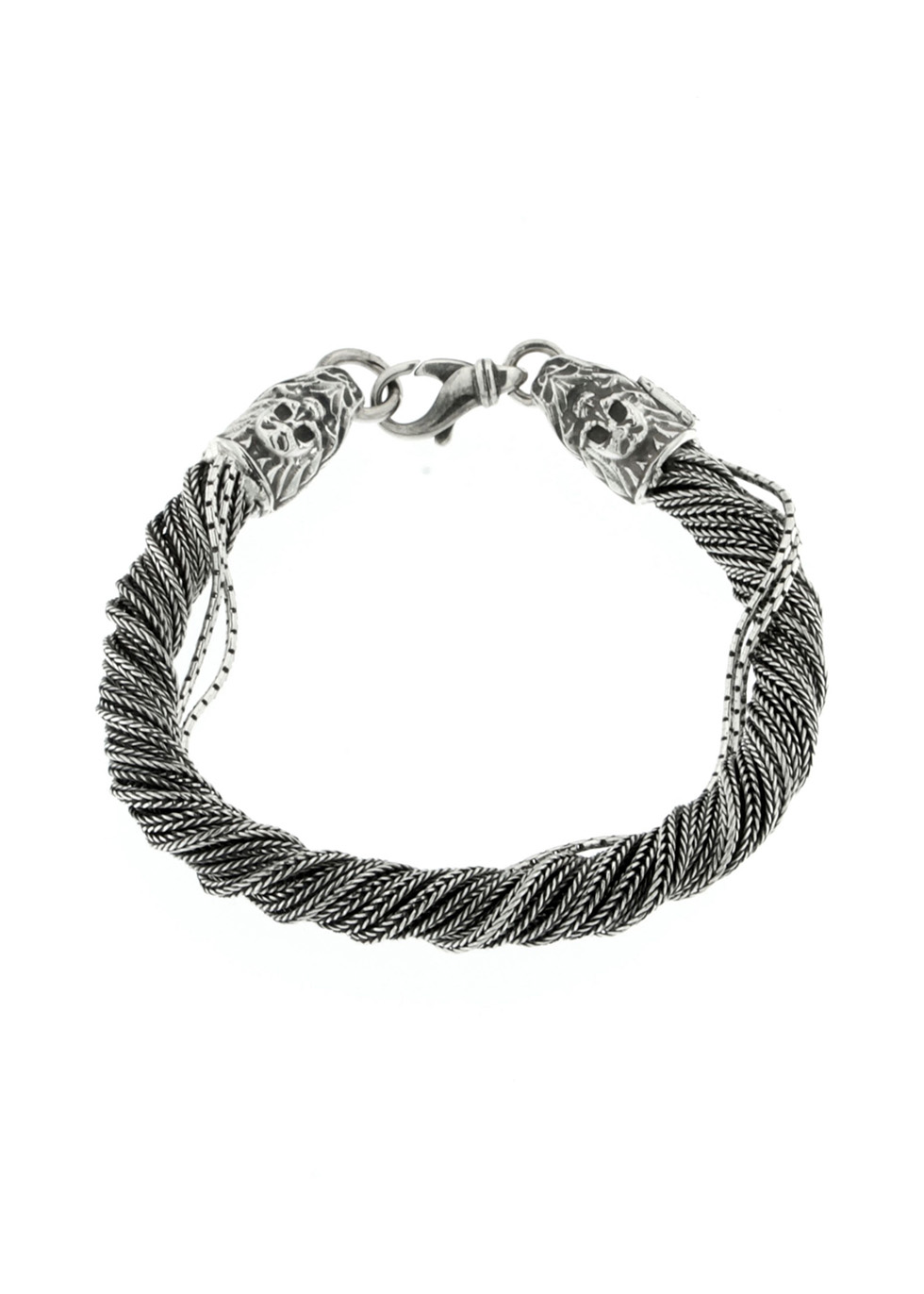 Sterling silver twisted chain bracelet - Emanuele Bicocchi
