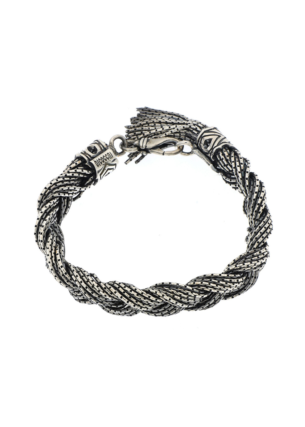 Sterling silver braided bracelet - Emanuele Bicocchi