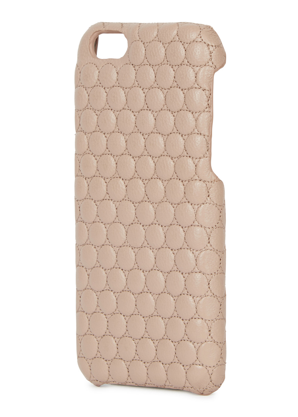 Taupe quilted leather iPhone 6/6S case - The Case Factory