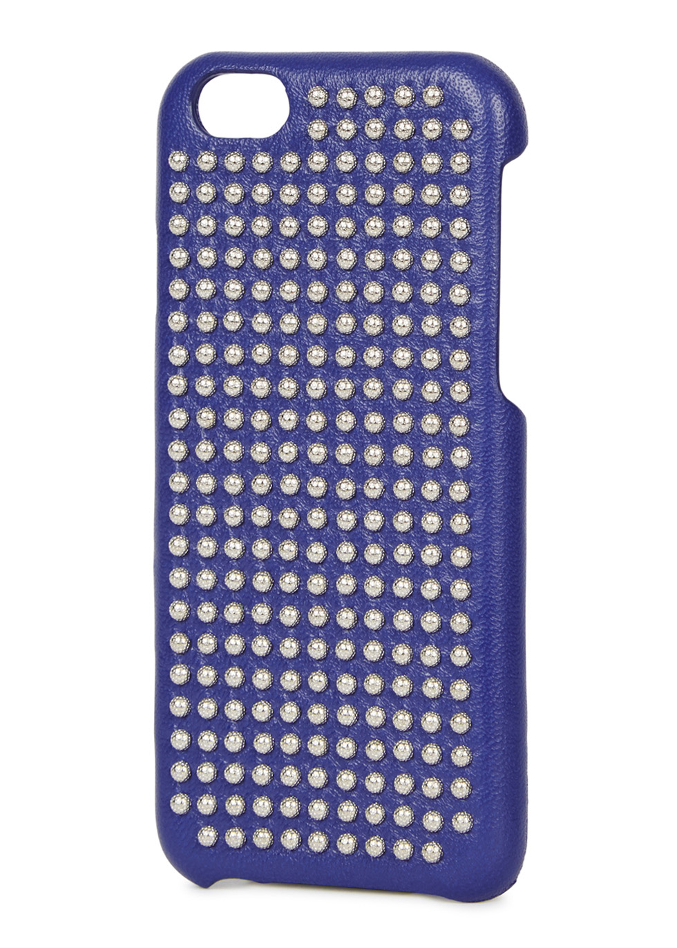 Purple studded leather iPhone 6/6S case - The Case Factory