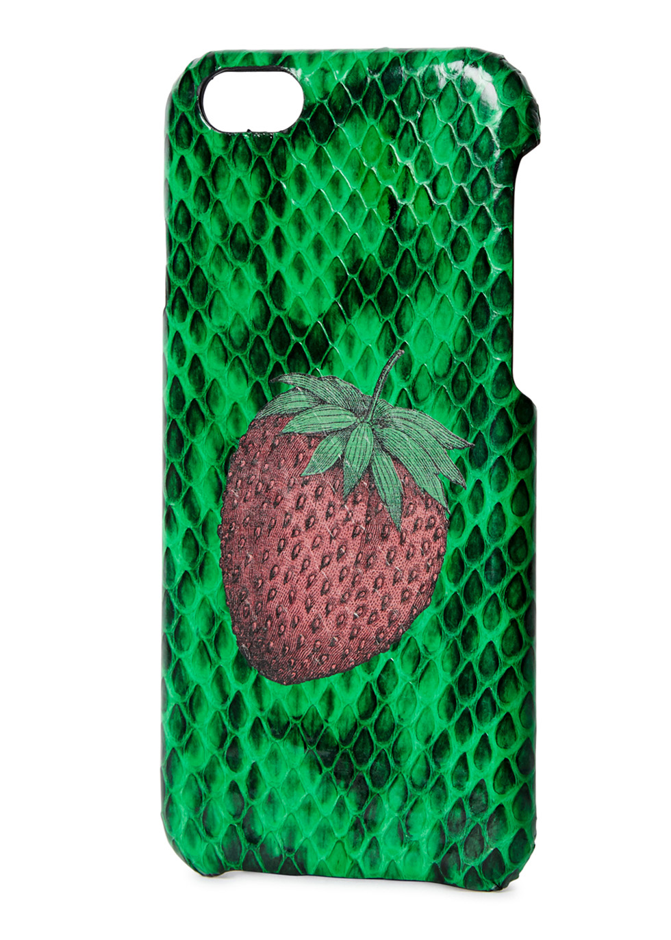 Strawberry-print watersnake iPhone 6/6S case - The Case Factory