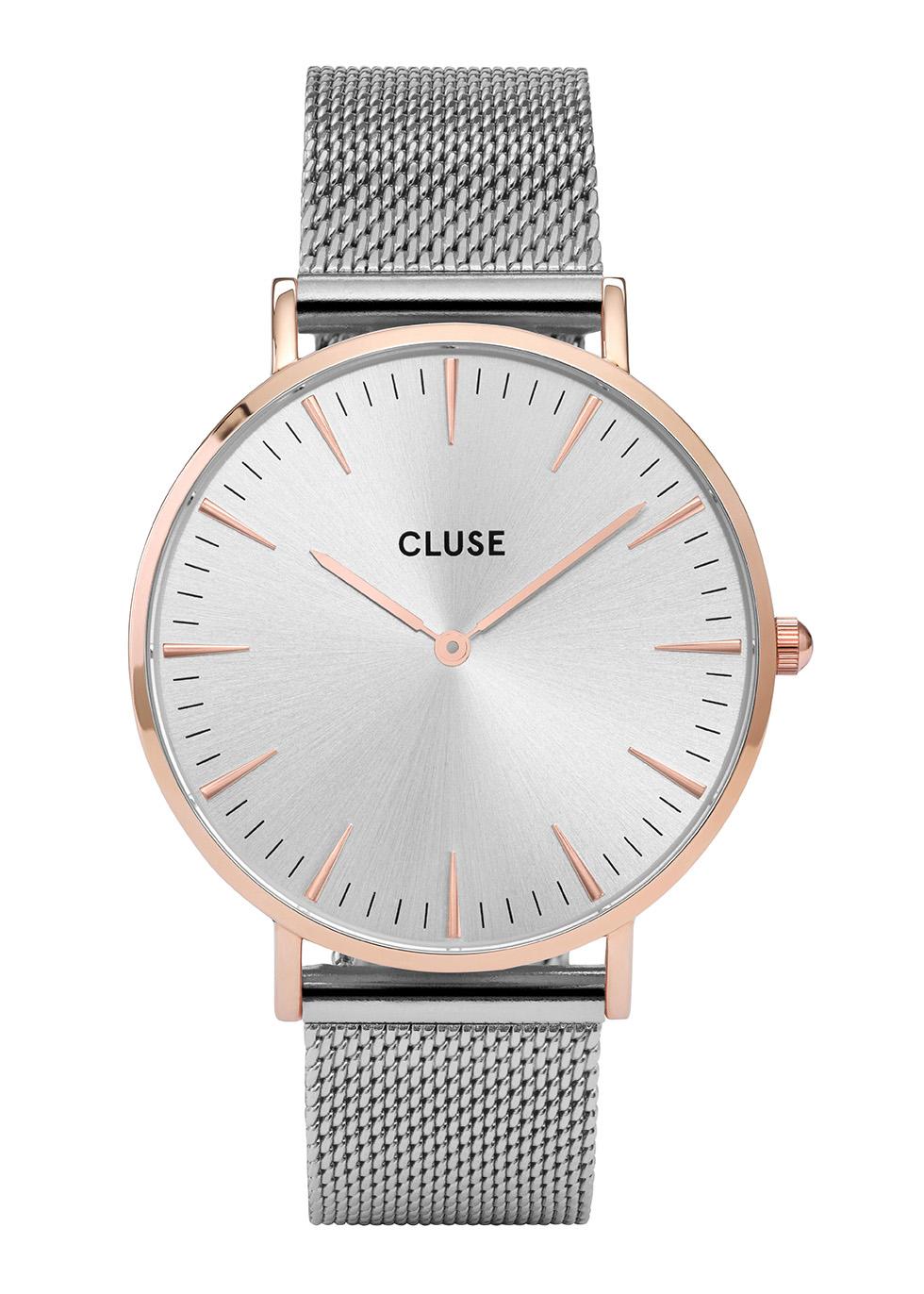 CLUSE La Bohème Mesh Silver Tone Watch
