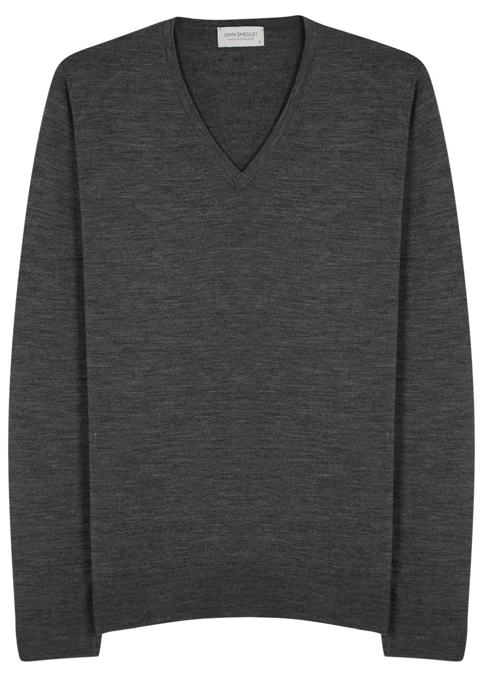 Blenheim charcoal fine-knit wool jumper - John Smedley
