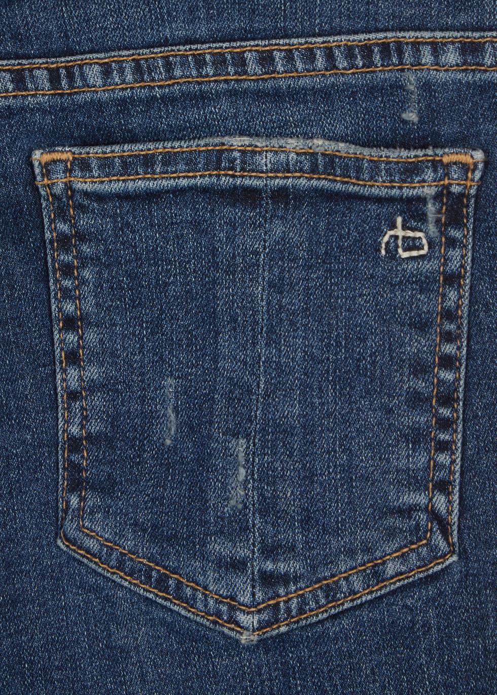 Blue distressed cropped skinny jeans - rag & bone