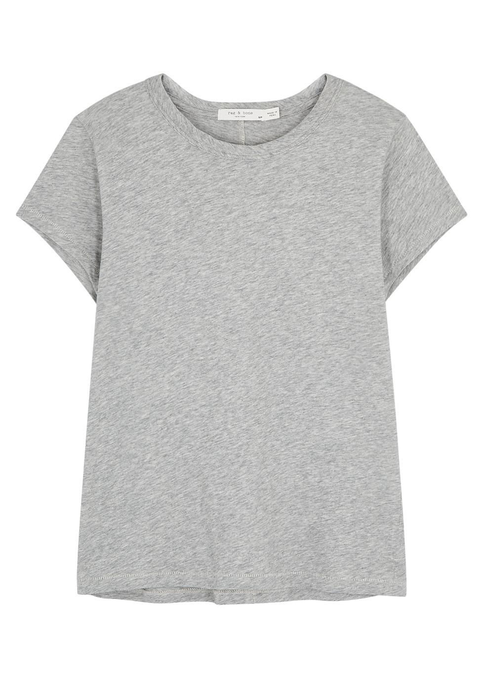 RAG & BONE | Rag & Bone The Tee Grey Cotton T-Shirt | Goxip