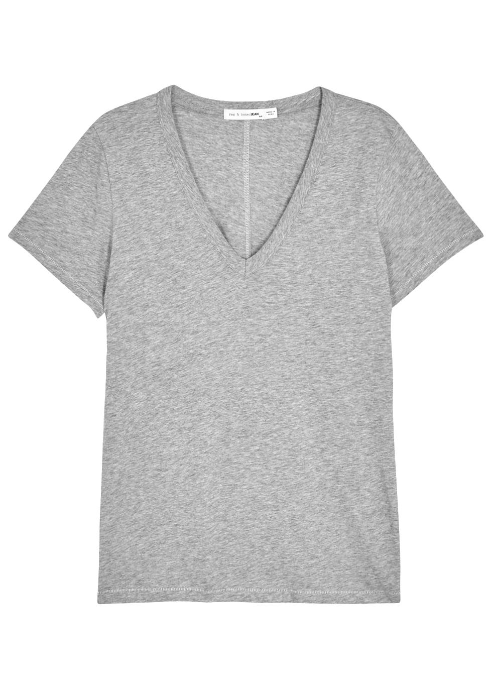 The Vee grey cotton T-shirt - rag & bone