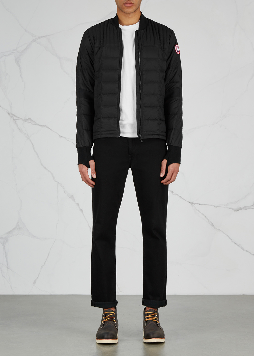 Dunham black quilted shell jacket - Canada Goose