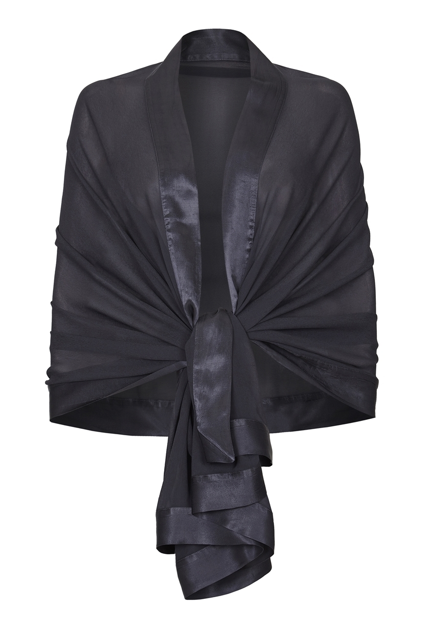 ZARA SHAWL CHARCOAL