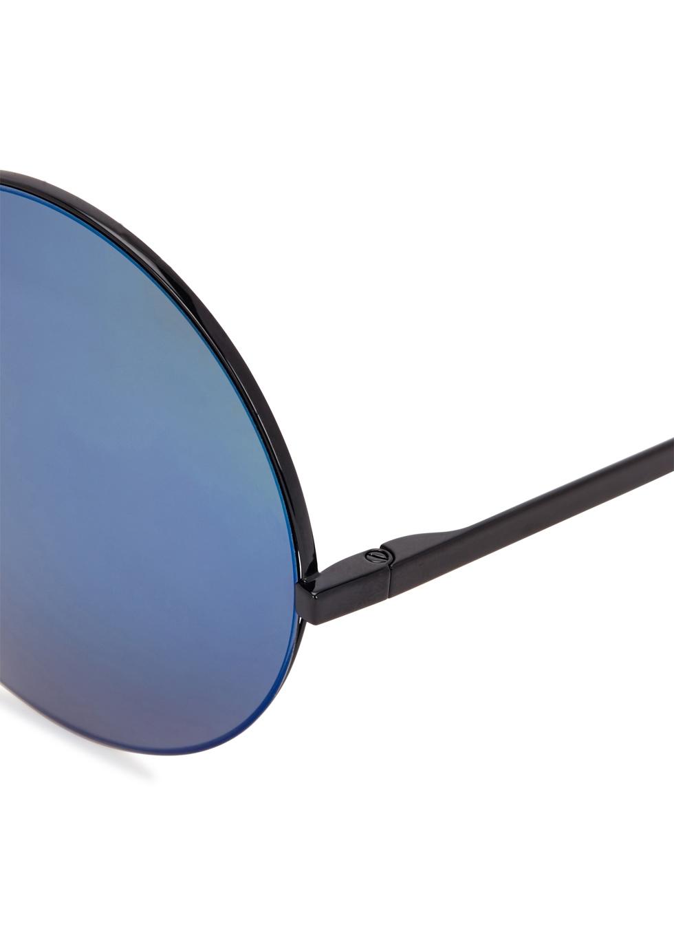 Supra blue round-frame sunglasses - Victoria Beckham