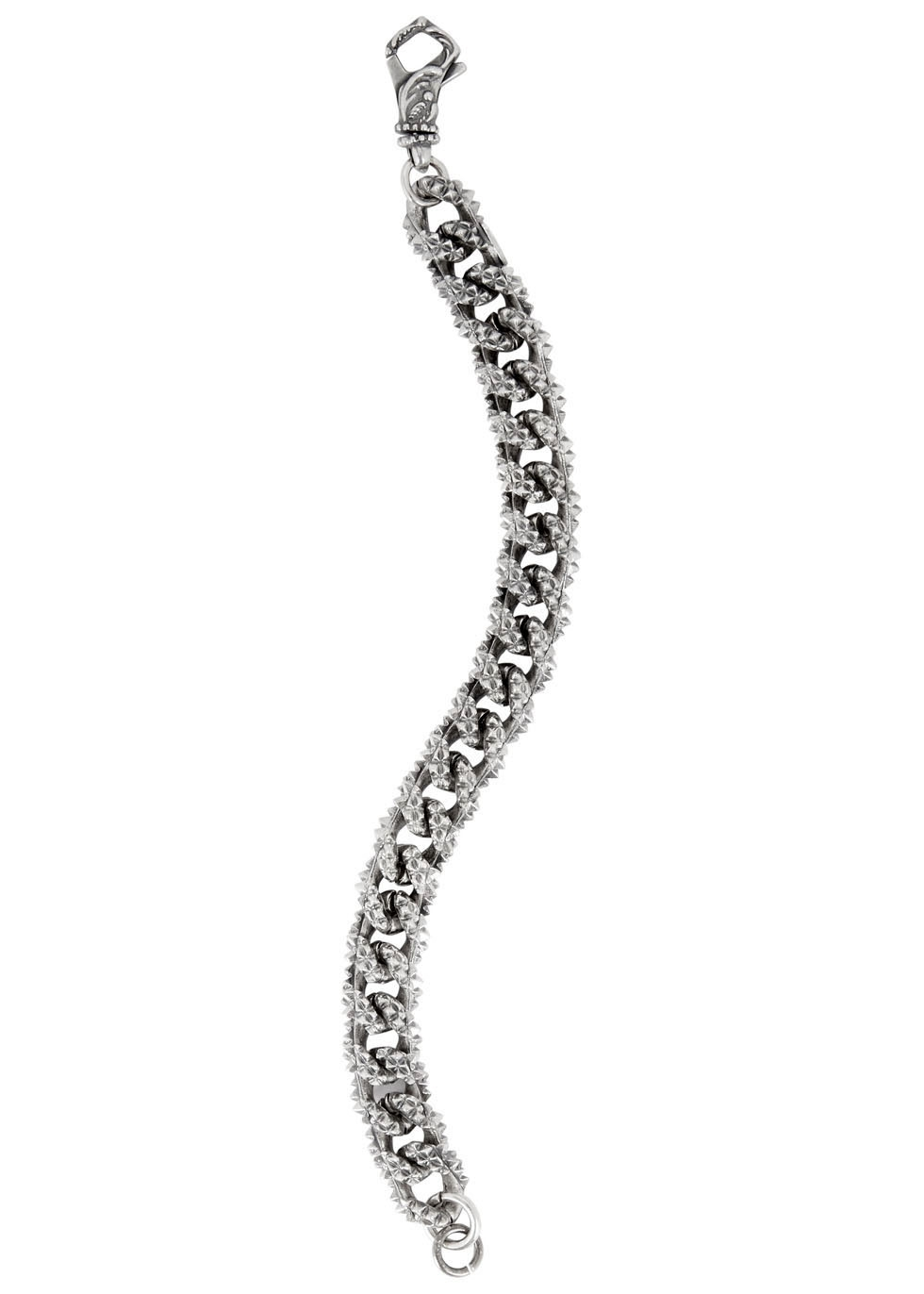 Sterling silver chain bracelet - Emanuele Bicocchi