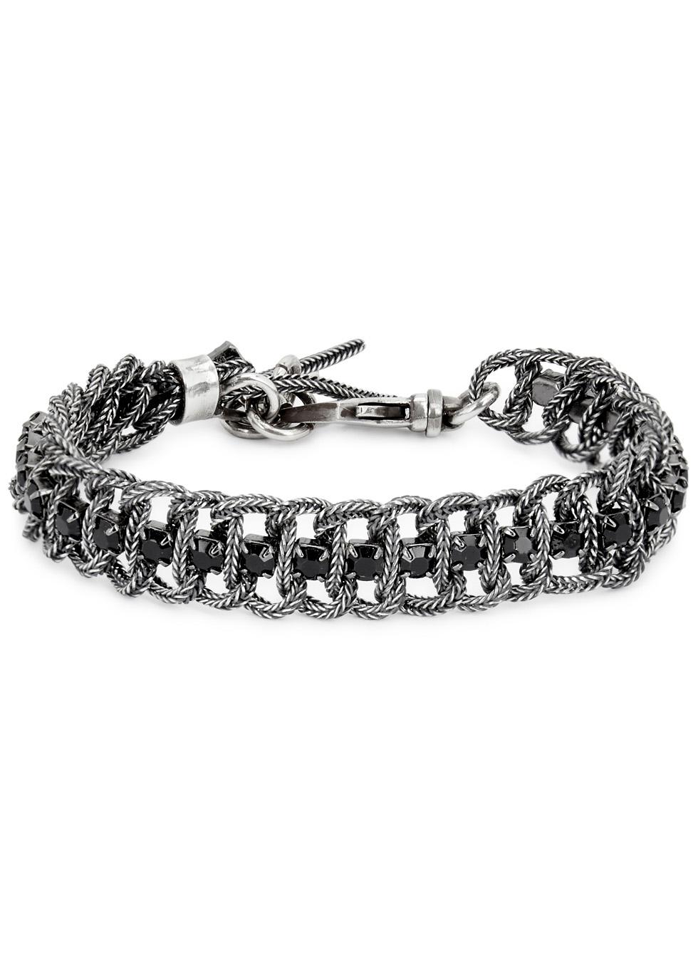 Small Swarovski-embellished bracelet - Emanuele Bicocchi