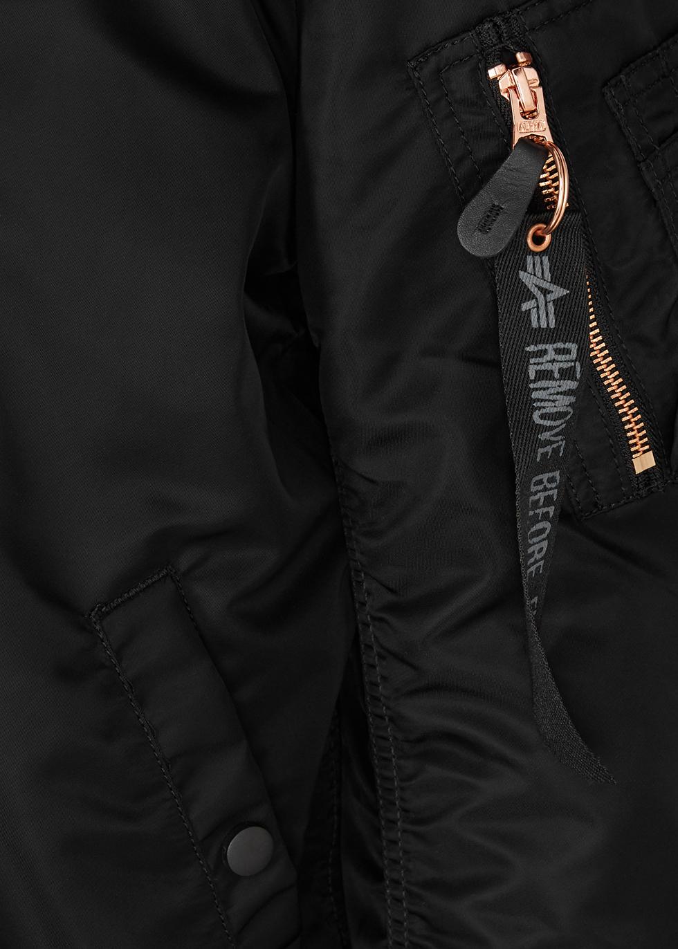 MA-1 black shell bomber jacket - Alpha Industries
