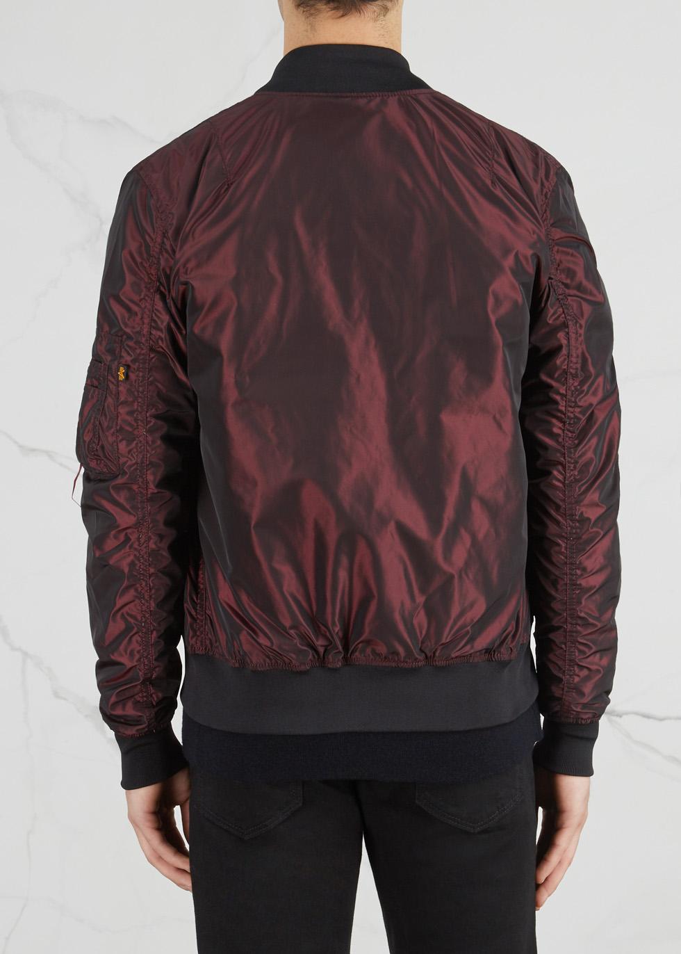 MA-1 metallic burgundy shell bomber jacket - Alpha Industries