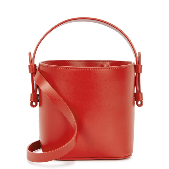 Nico Giani ADENIA MINI RED LEATHER BUCKET BAG