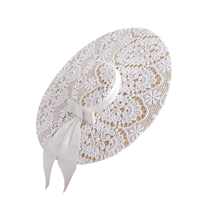 EMILY - LONDON | EMILY - LONDON Agnes Wide-brimmed Lace Hat | Goxip