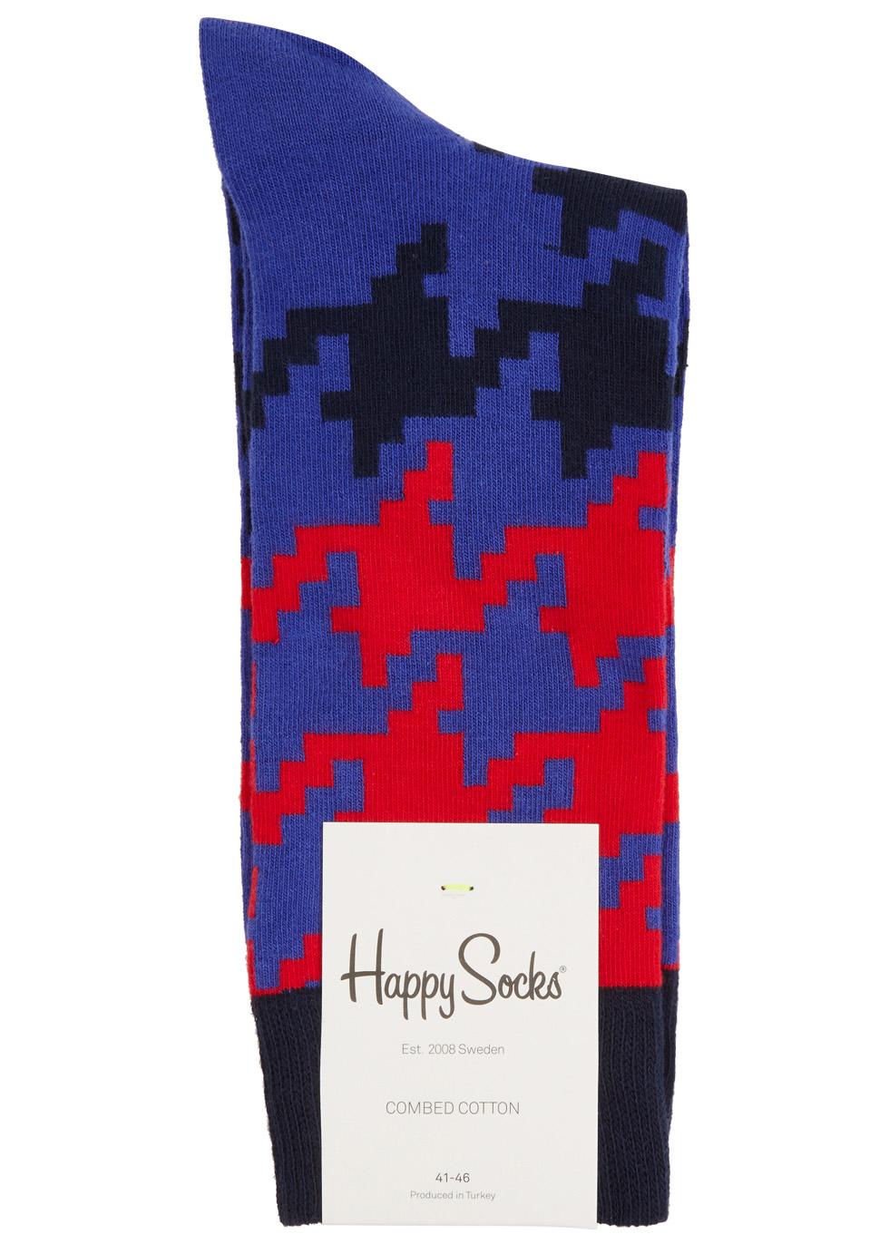 Dogtooth cotton blend socks - Happy Socks