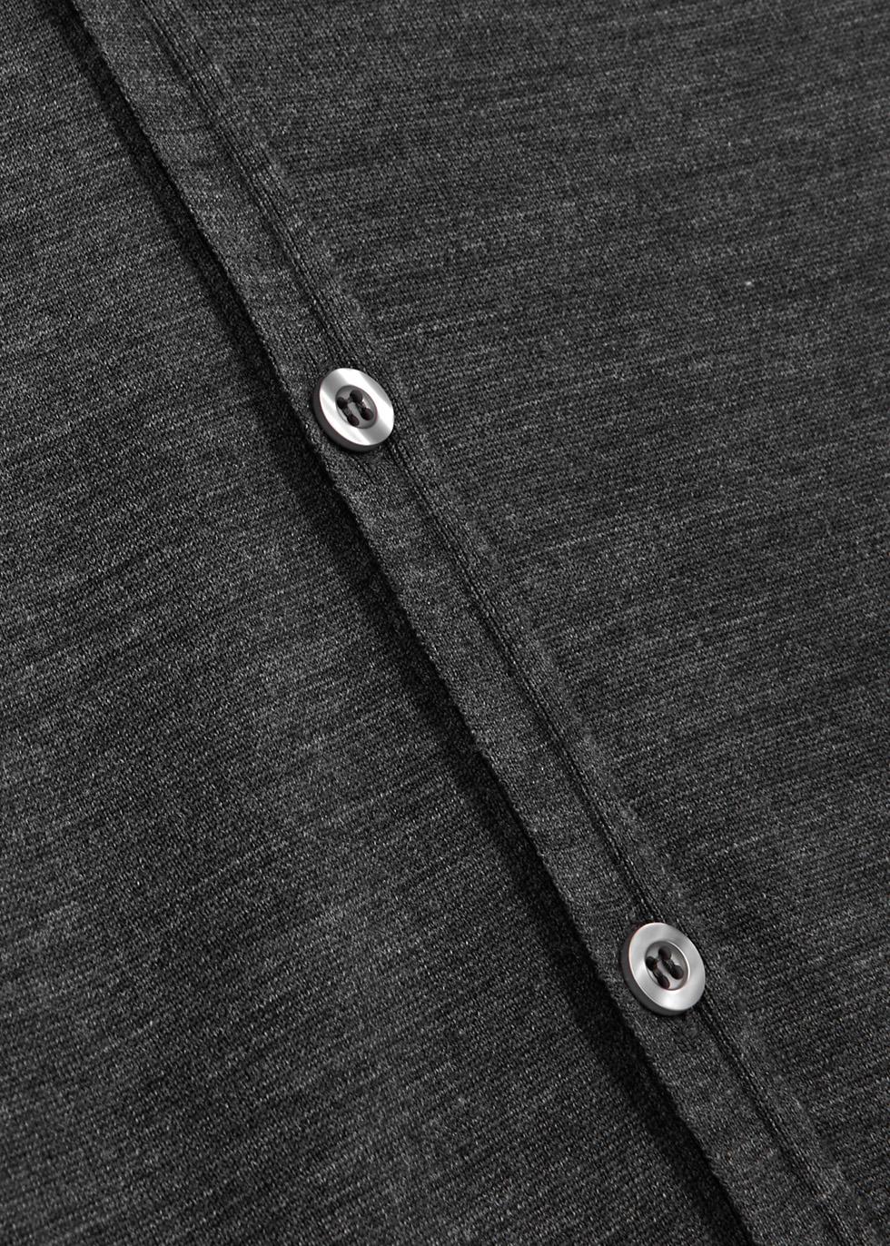 Petworth charcoal wool cardigan - John Smedley