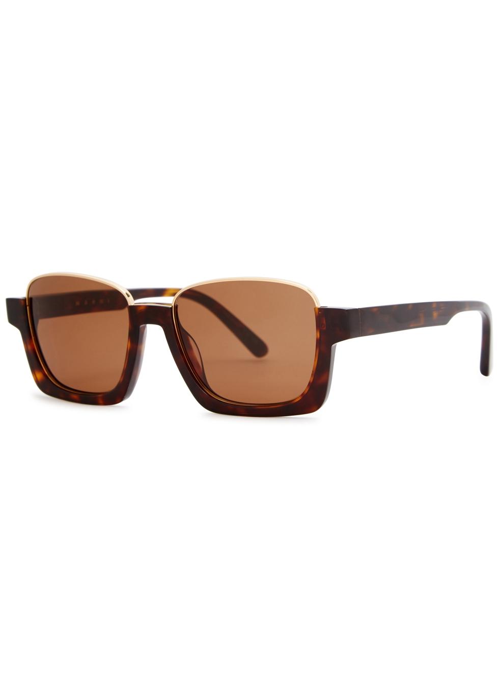 Tortoiseshell square-frame sunglasses - Marni