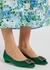Hangisi 10 emerald silk-satin flats - Manolo Blahnik