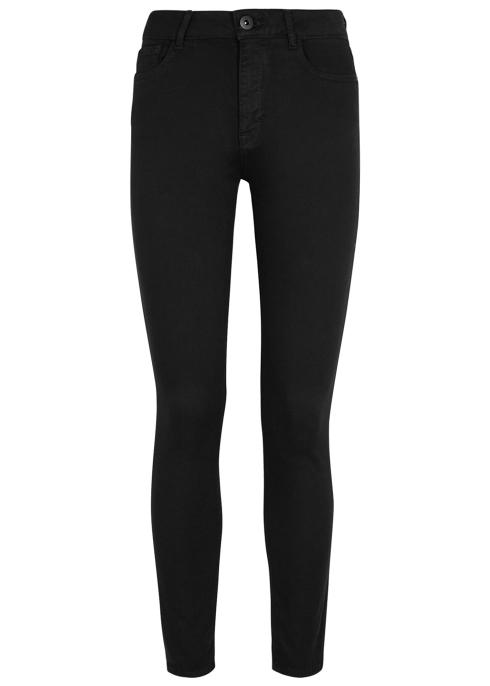 aa8a9f50b DL1961 Farrow black Instaslim skinny jeans - Harvey Nichols