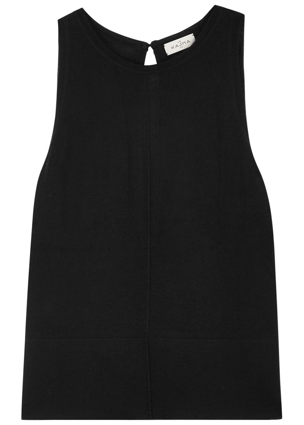 Bombay black cashmere tank - Le Kasha