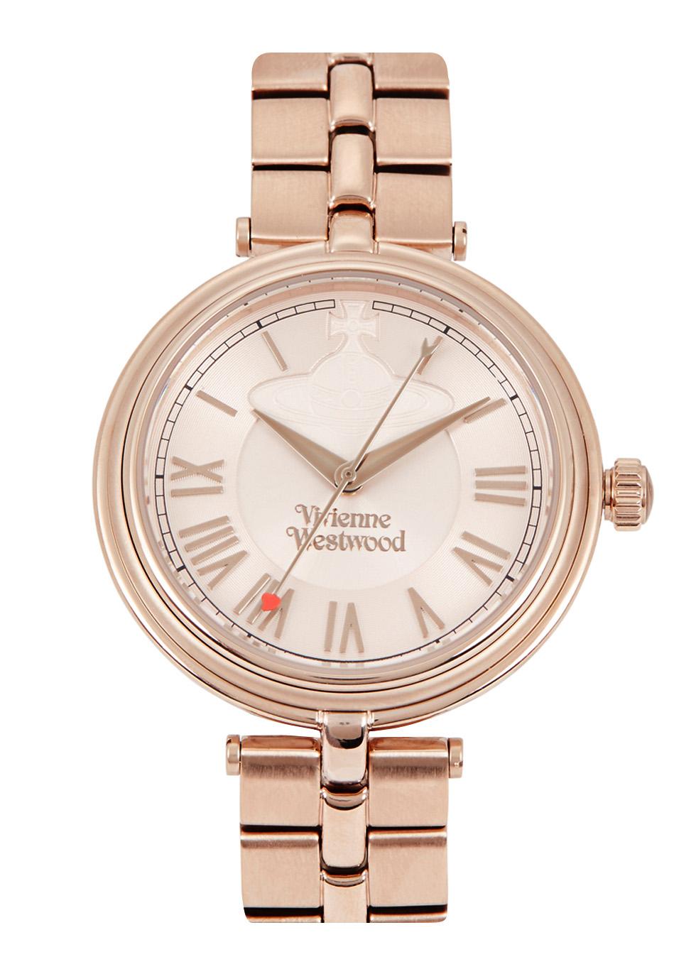 Farringdon rose gold tone watch - Vivienne Westwood