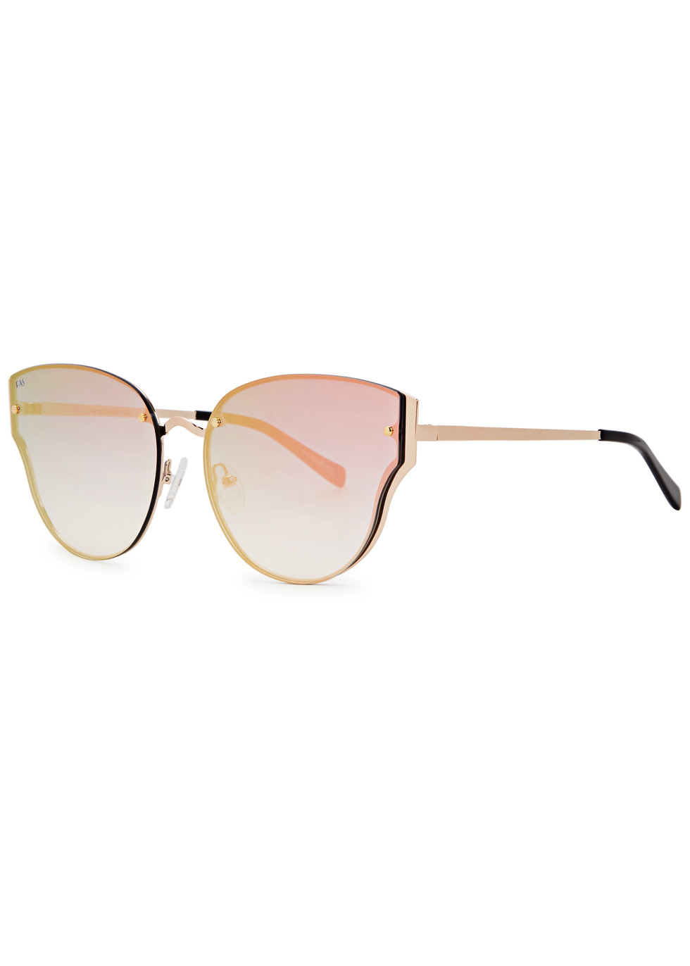 Honeytrap rose gold cat-eye sunglasses - FOR ART'S SAKE