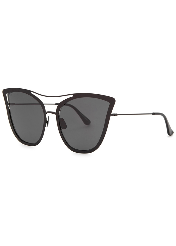 16e7b873364 Tahiti black cat-eye sunglasses. Exclusive. FOR ART S SAKE