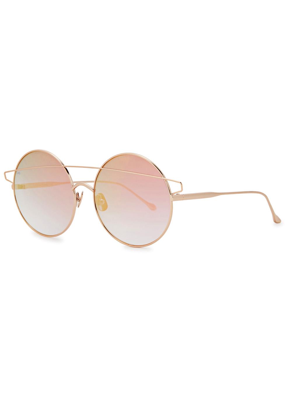 Mykonos rose gold tone round sunglasses - FOR ART'S SAKE