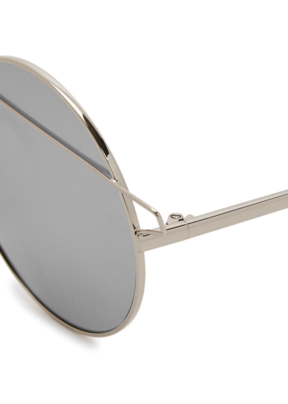 Mykonos silver tone round-frame sunglasses - FOR ART'S SAKE