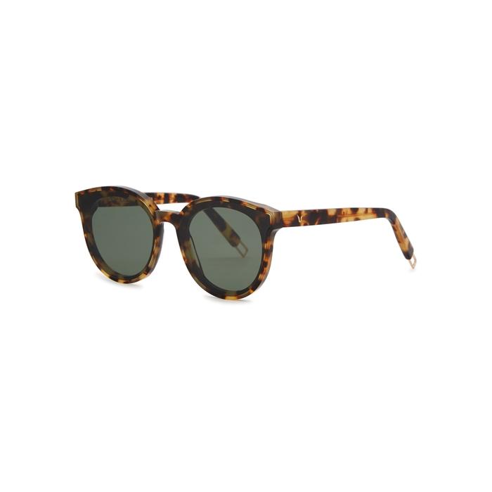 62bbc6d11df5 Gentle Monster Black Peter Round-Frame Tortoiseshell Sunglasses ...