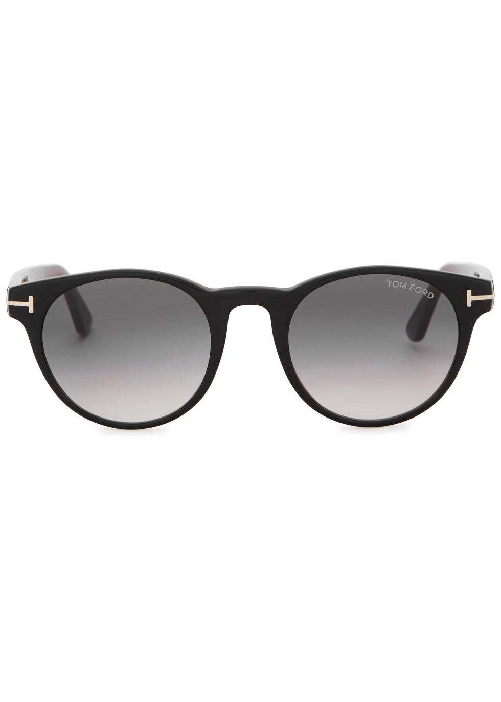 Palmer black round-frame sunglasses - Tom Ford Eyewear
