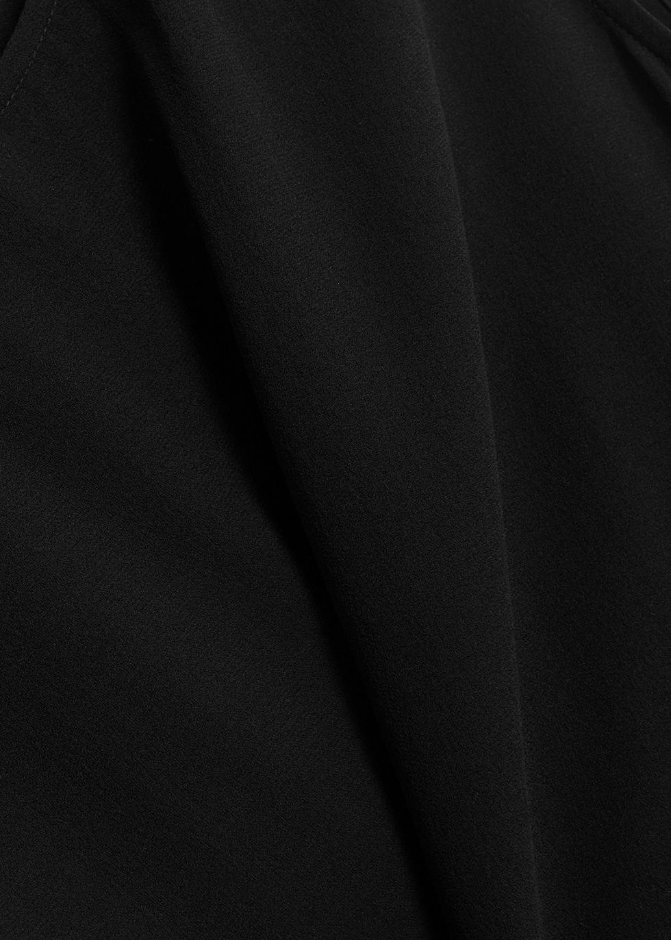 Black silk georgette top - EILEEN FISHER