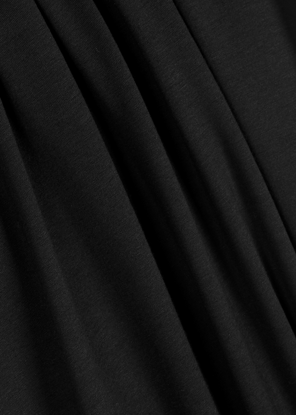 Black jersey midi dress - EILEEN FISHER