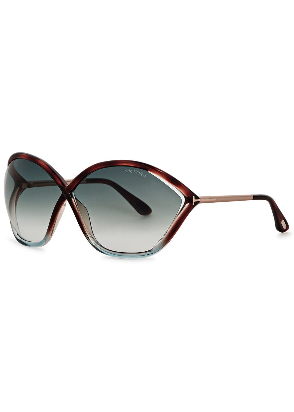 Bella tortoiseshell oversized sunglasses - Tom Ford Eyewear
