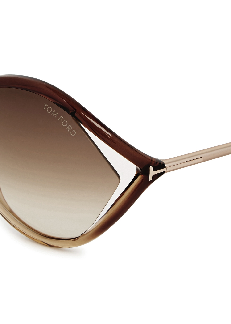 Liora light brown oversized sunglasses - Tom Ford Eyewear