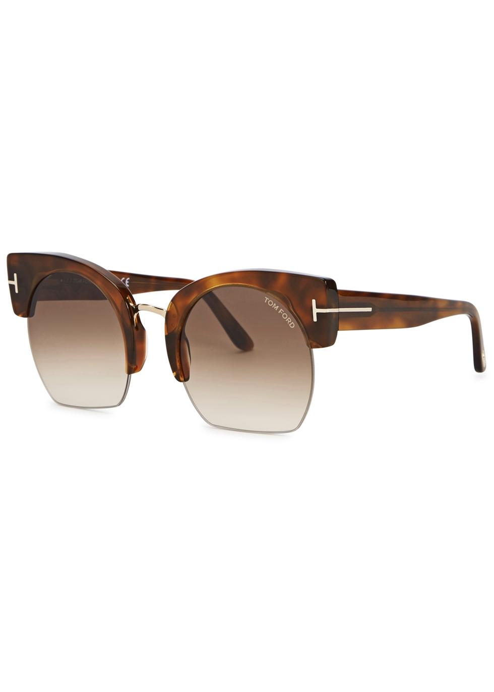 Savannah clubmaster-style sunglasses - Tom Ford Eyewear