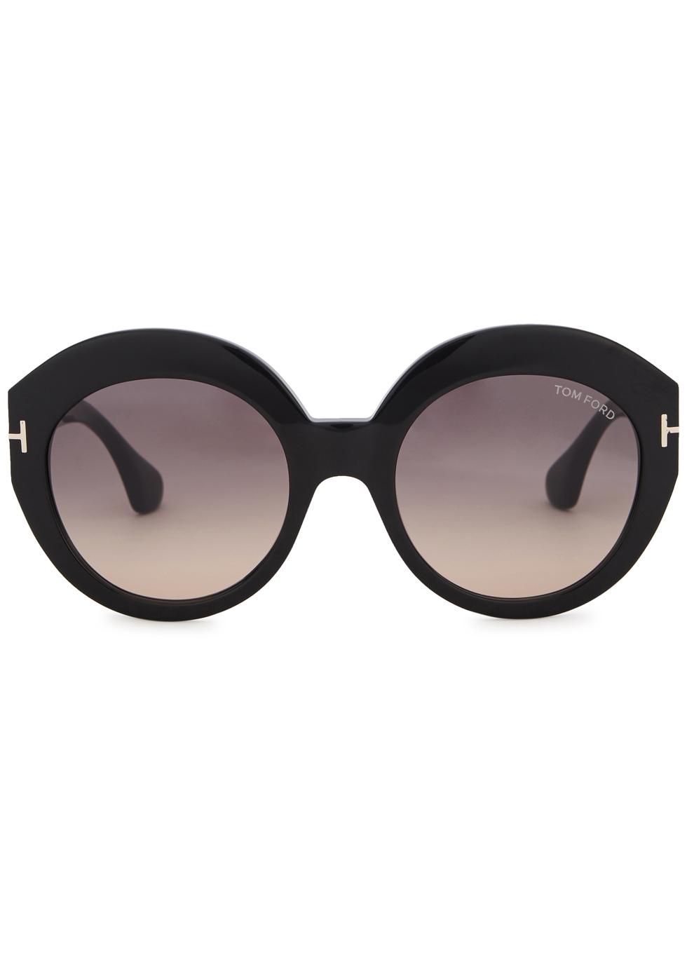 Rachel black round-frame sunglasses - Tom Ford Eyewear