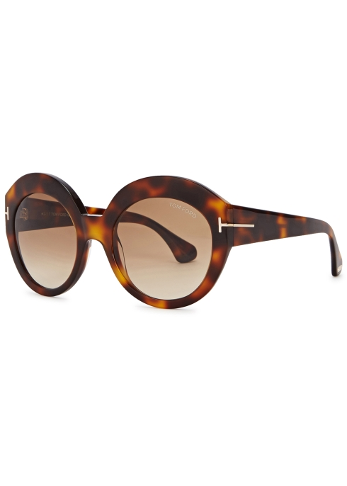 059e80ed1c Tom Ford Eyewear Rachel tortoiseshell round-frame sunglasses ...