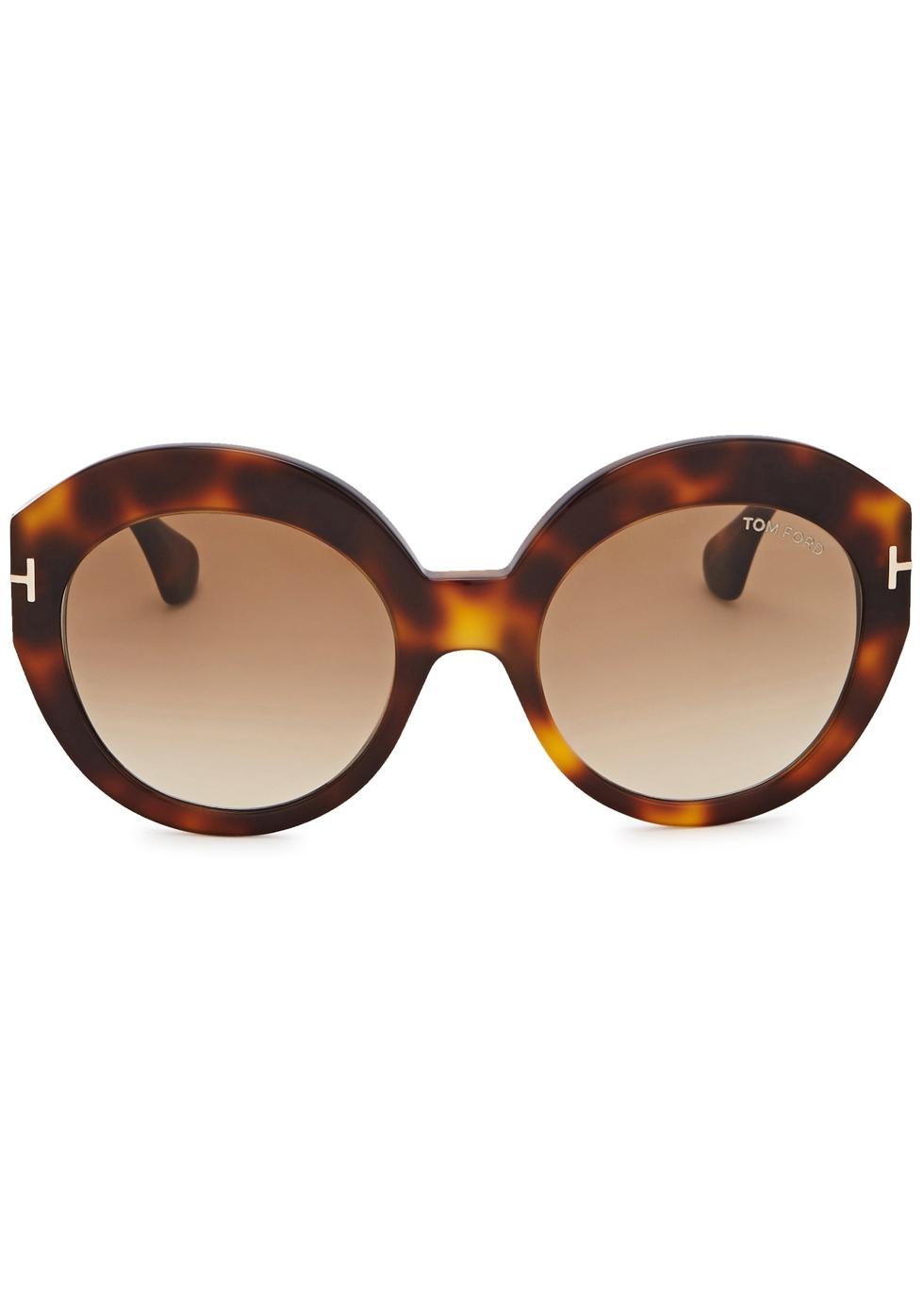 Rachel tortoiseshell round-frame sunglasses - Tom Ford Eyewear
