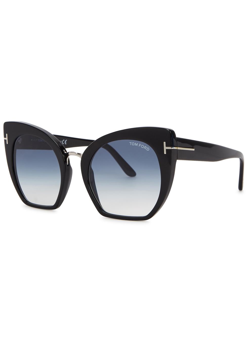 Samantha black cat-eye sunglasses - Tom Ford Eyewear